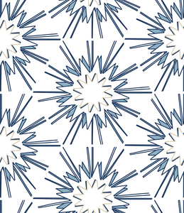 designer wallpaper direct blue and white cream hexagon interior design