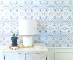 blue watercolor wallpaper, modern chinoiserie wallpaper, 2017 wallpaper trends, most popular wallpaper 2018, philip jeffries wallpaper aqua teal, how to hang wallpaper