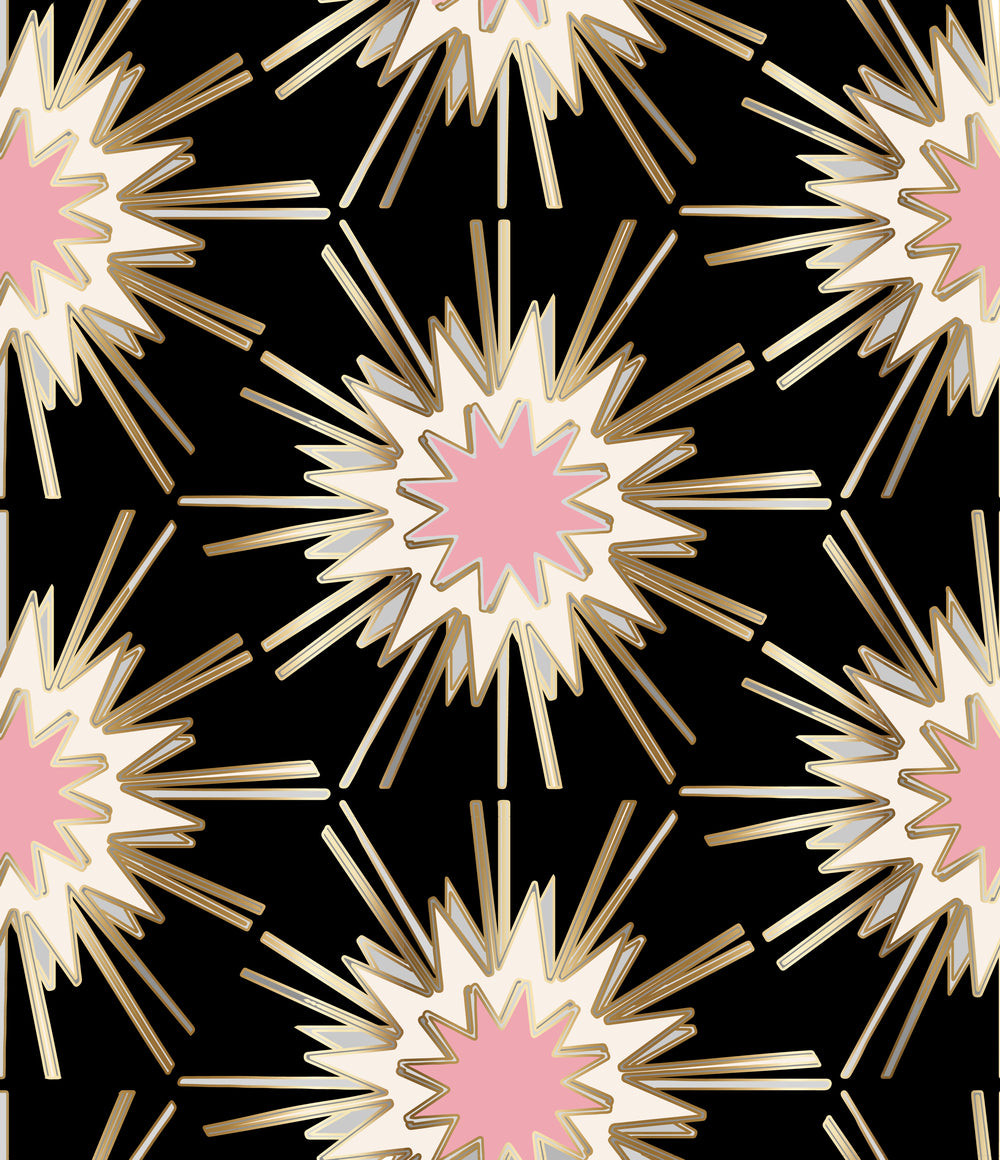 Burst Black Pink Gold Jennifer Latimer
