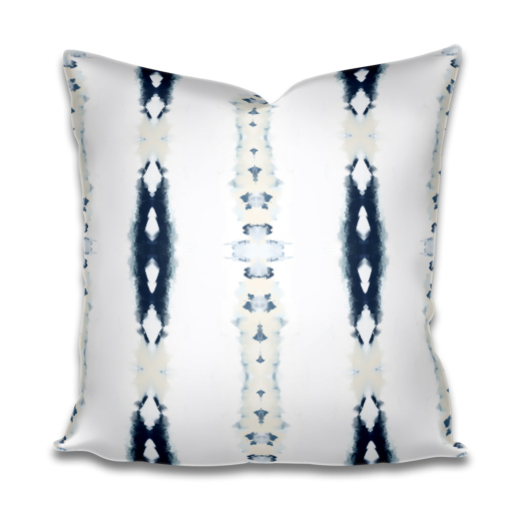 navy cream pillow, ivory and navy pillow cover