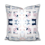 navy and pink pillow, navy and pink pillow cover, navy blush pillow cover