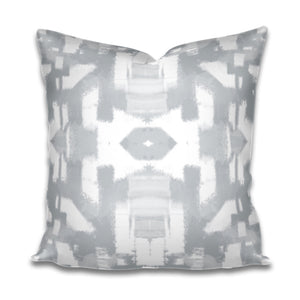grey paint stroke pillow, gray brush stroke pillow, grey brush stroke pillow, artist painterly pillow grey