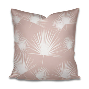 blush palm print, blush palmetto fabric, blush pink palmetto pillow, pink palm pillow, charleston nursery design, blush palmetto fan pillow