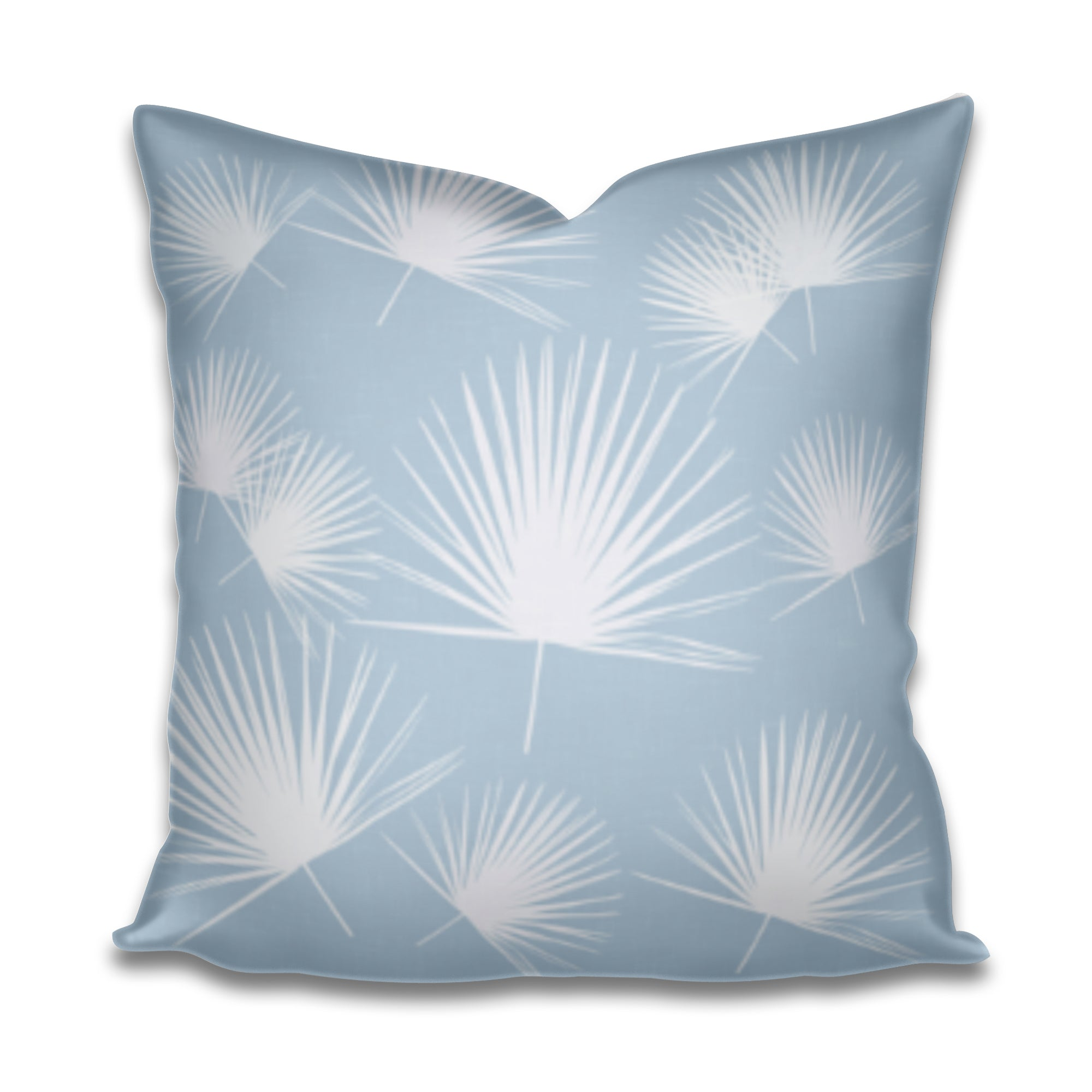 palmetto fan fabric, palmetto pillow, palmetto palm pillow, blue palmetto, charleston palmetto pillow, coastal palm pillow