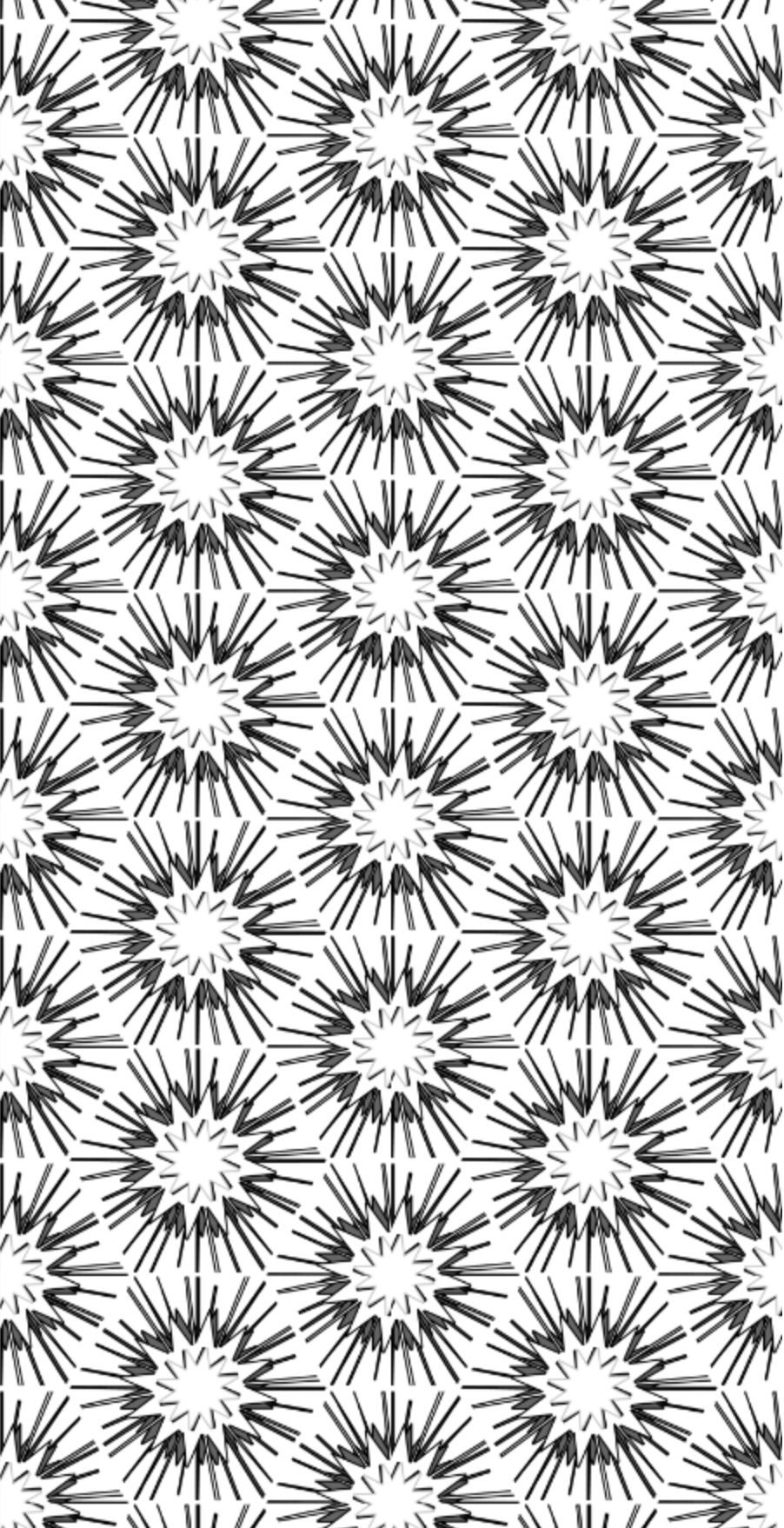 Black white wallpaper, black hexagon wallpaper, hexagon wallpaper, black star wallpaper, boho wallpaper, black white decor wallpaper, wallpaper for black white decor