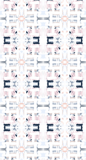 navy and blush wallpaper, wallpaper blue and blush, blush pink and navy wallpaper, wallpaper images girls room, artist wallpaper, wallpaper in hallway, wallpaper in foyer