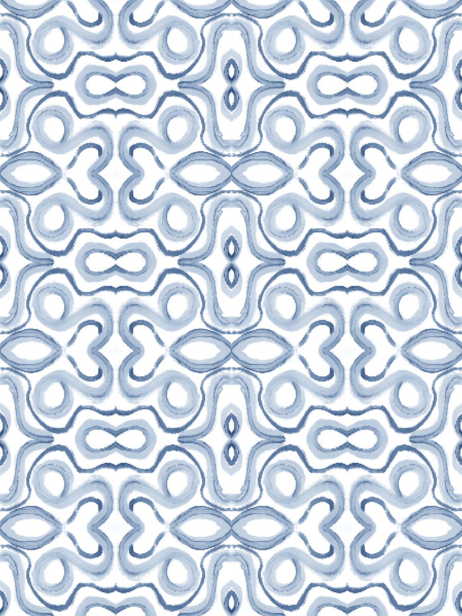 blue swirls fabric, linen fabric blue white painterly