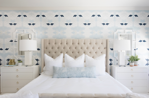 accent wall behind bed wallpaper, wallpaper behind bed, wallpaper accent wall bedroom