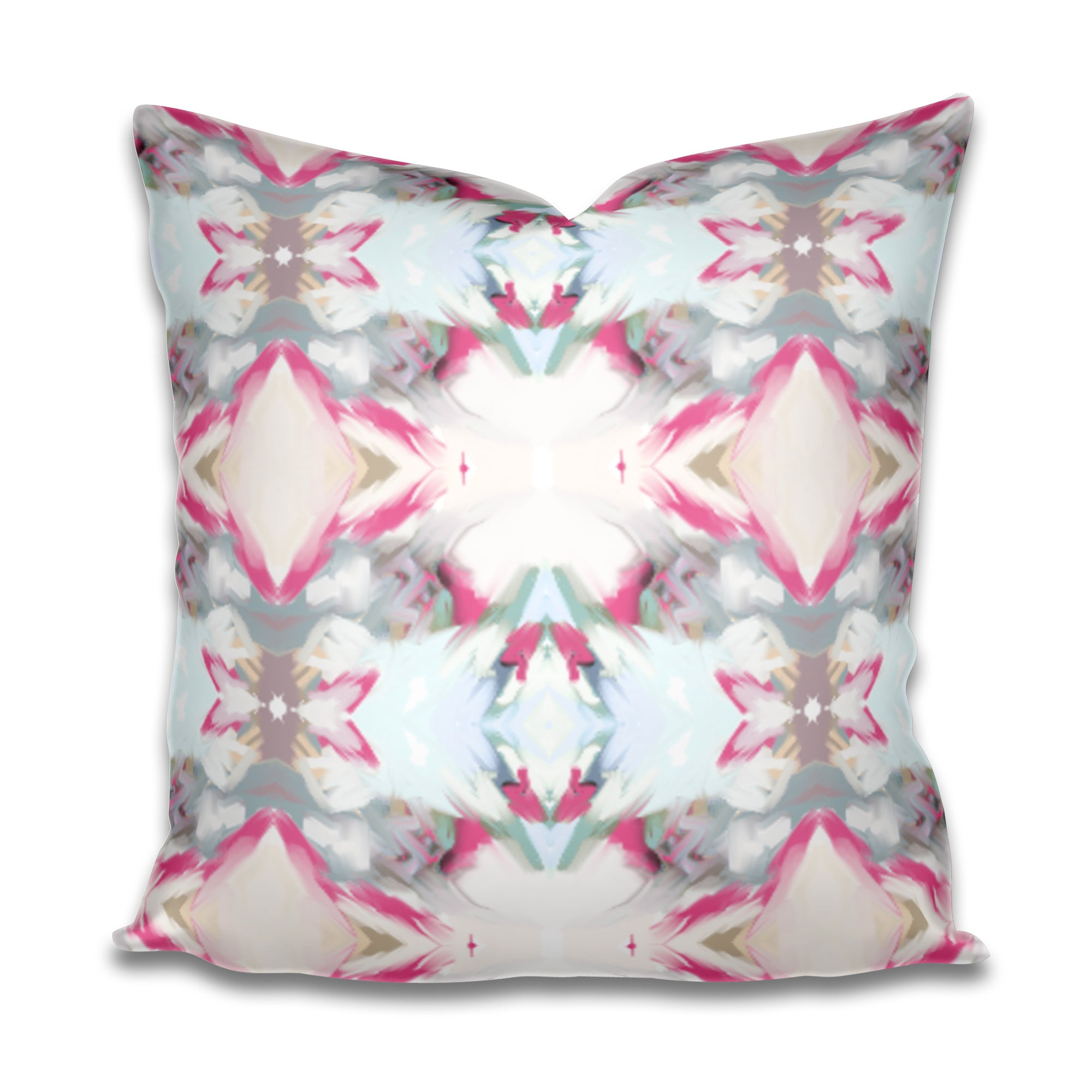 charleston artist, charleston abstract art, charleston interiors, charleston interior designer, painterly pillow, hand painted design pillow, pink blue aqua gray pillow
