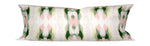 charleston artist decor, artist pillows, art pillows, green and pink lumbar pillow, green and pink bolster