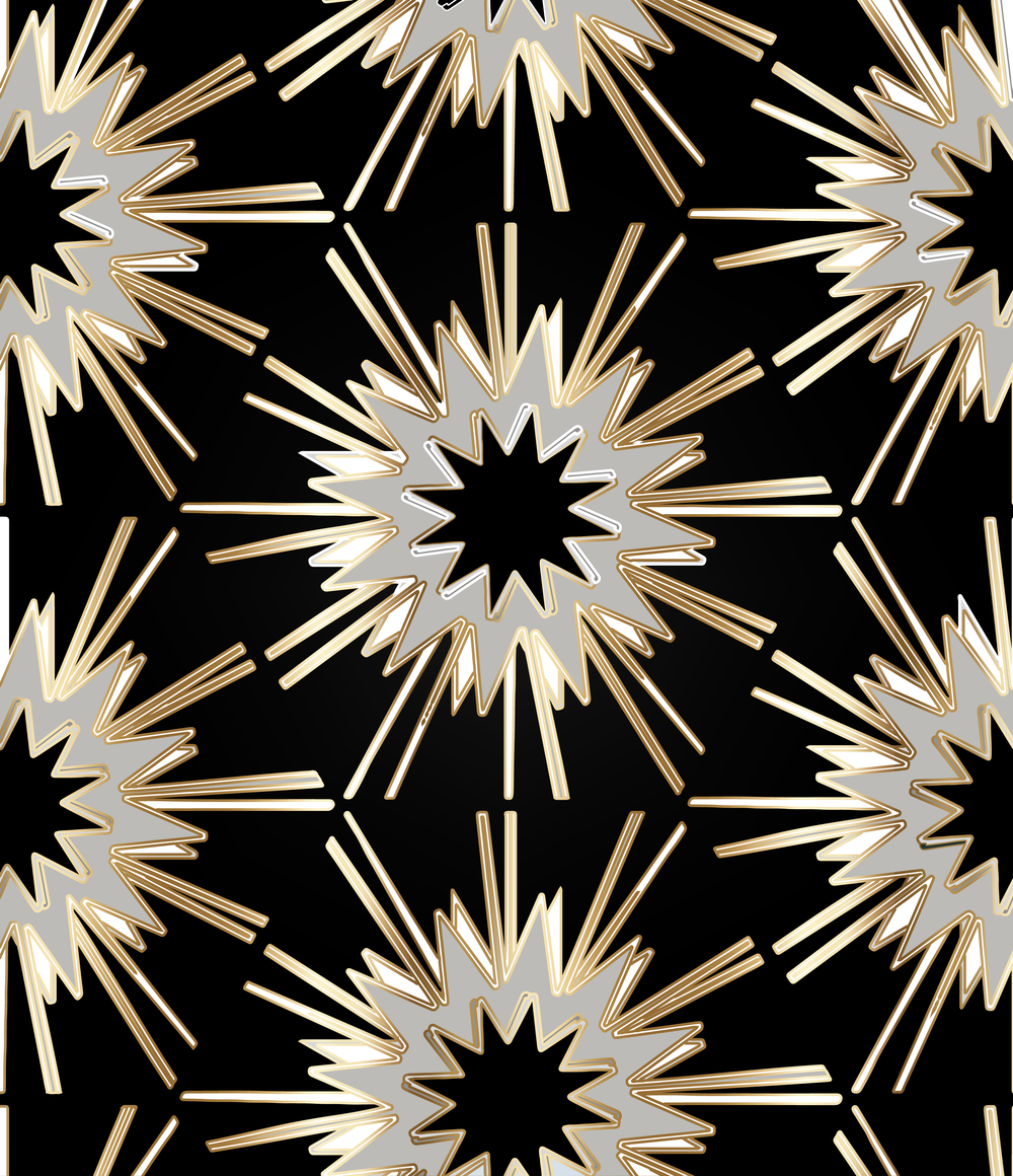 black gold wallpaper, mid century modern wallpaper, gold star wallpaper, ceiling wallpaper stars, gold accent wallpaper, black brass wallpaper