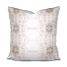 Load image into Gallery viewer, blush pink pillow, blush and grey pillow, soft blush pillow, blush and white pillow, soft neutral pillow, charleston fabric design
