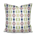 moss green pillow, painterly green navy pillow, artist fabric pillow, painterly fabric pillow, jennifer latimer pillow