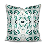 green and aqua pillow, pillow cover green and beige, charleston artist, charleston abstract art