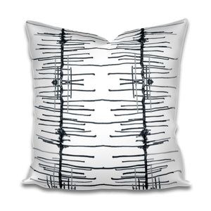 Twiggy Black White Pillow