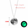 Glow In The Dark Moon Necklace™ 14mm