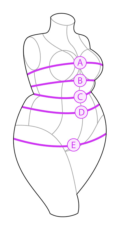 Bawdy Love Size Guide