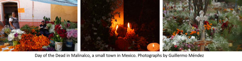 Mexico 1492: Day of the Dead in Mexico - Flowers market, night and day at the cementery