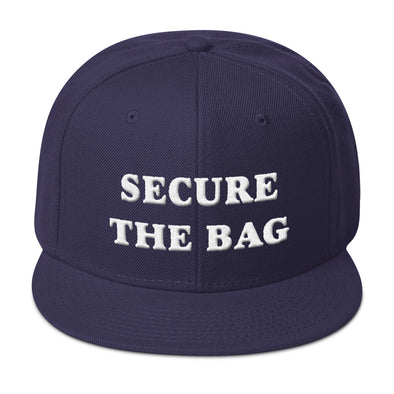 Secure The Bag Snapback Hat