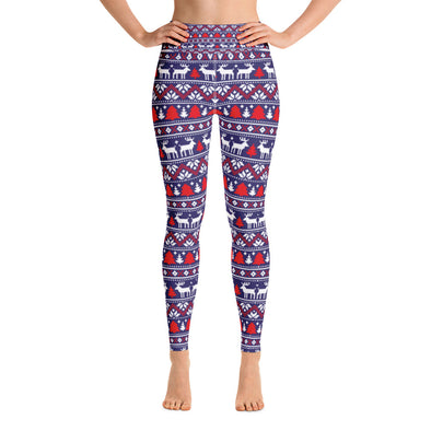 Christmas Print Leggings - LAVISH