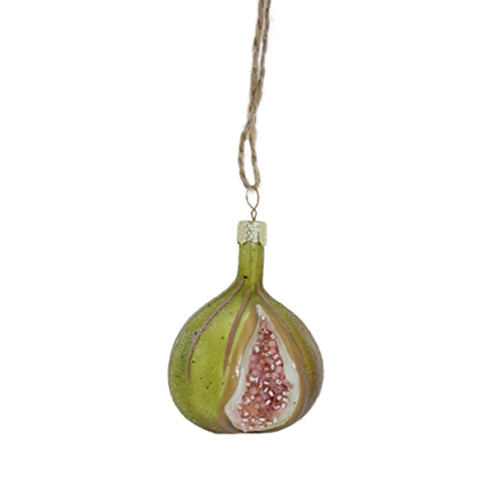 Orchid Fig Ornament in Olive