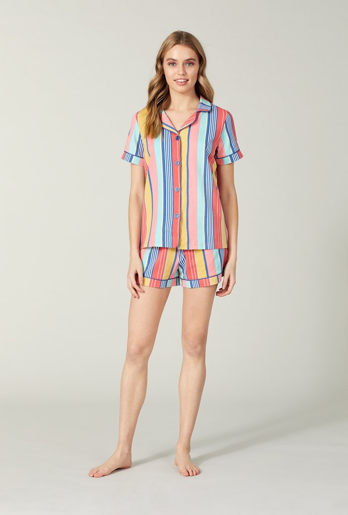 Seaside Stretch Short Sleeve PJ Set