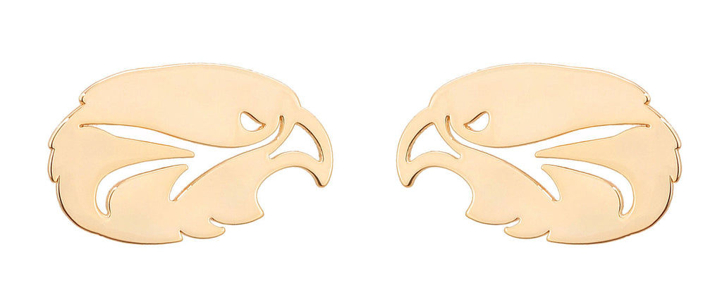 Fort Worth Country Day Falcon Earring Rose Gold Stud
