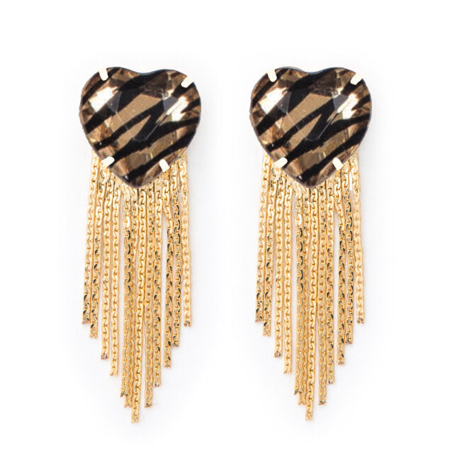 Corriente Earrings in Tiger