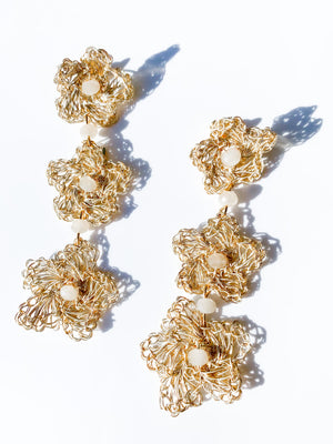 Flower Drops Earring