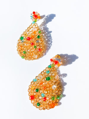 Open Mesh Tear Drop Earring