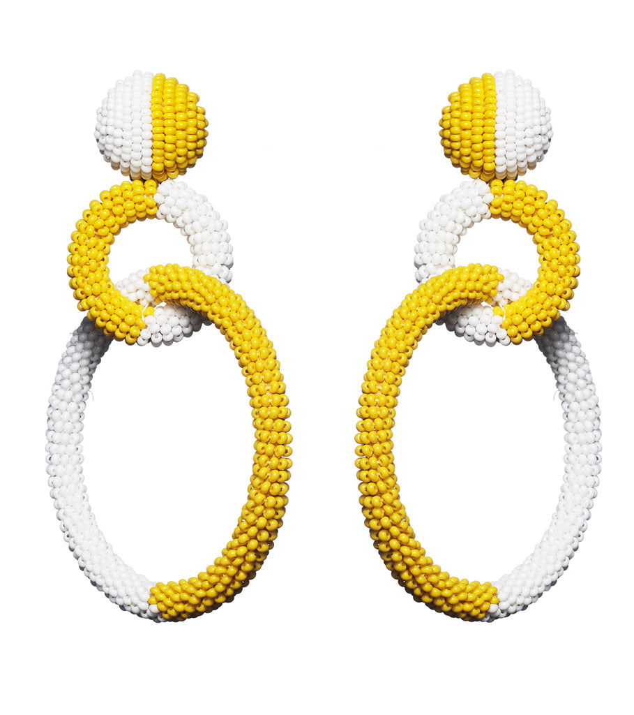Erin Earring in Canary and Ivory