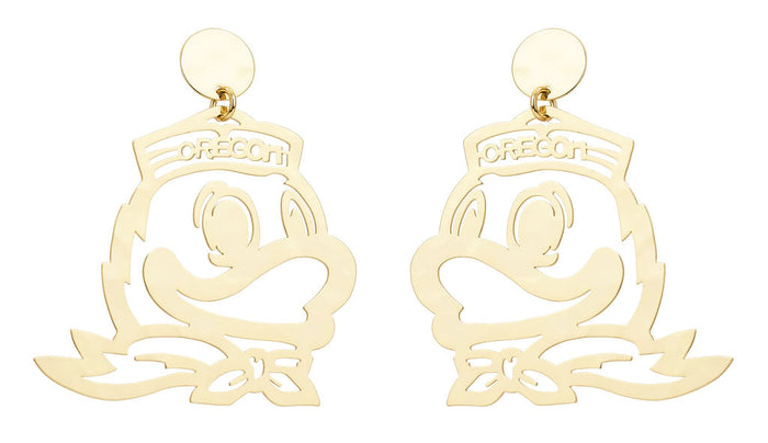 University of Oregon Duck Earring