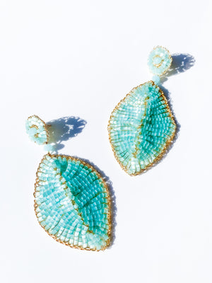 Sky Blue Leaf Earring