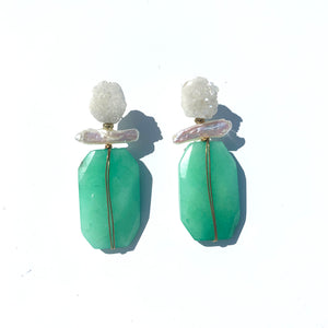 Hot Rocks Earring in Green