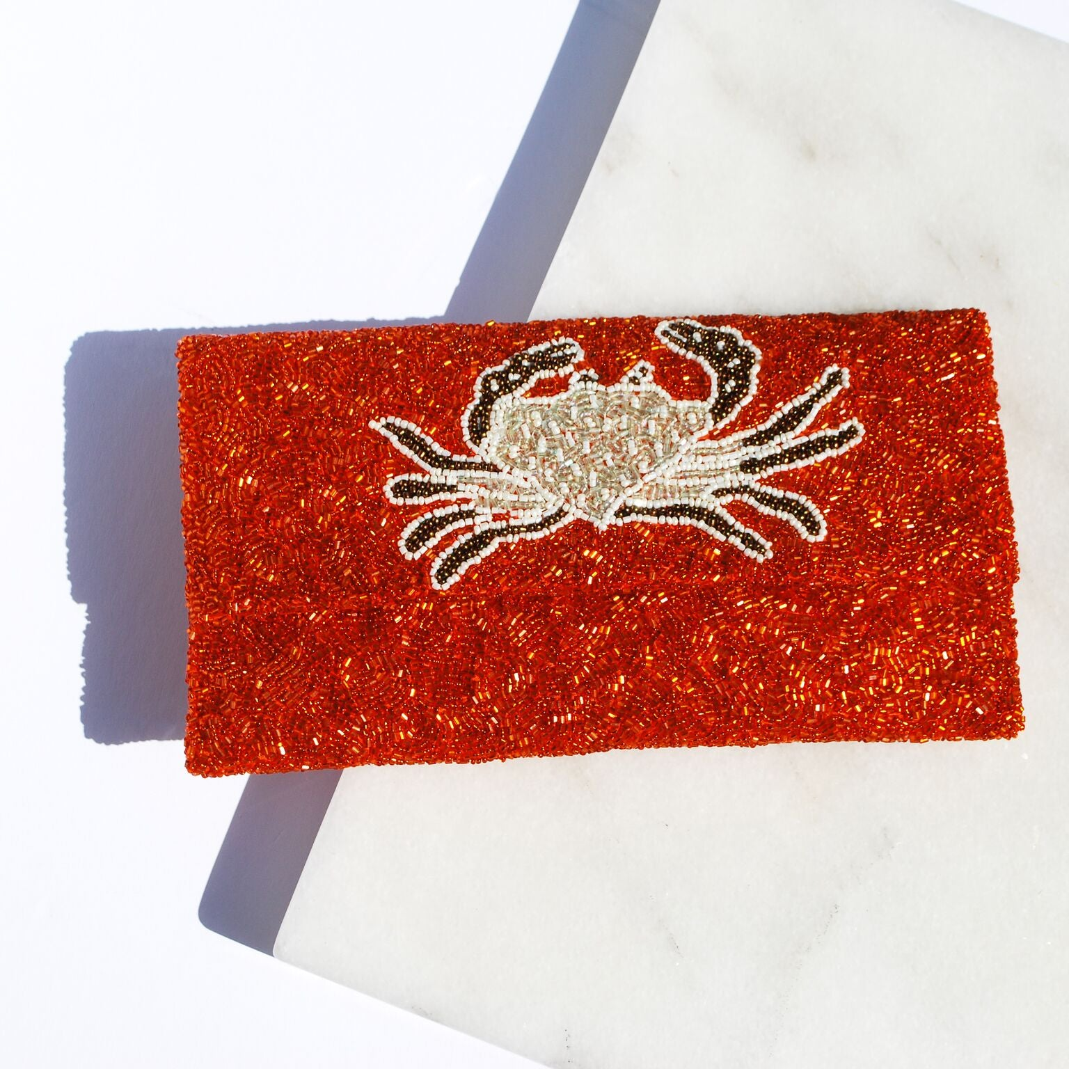 Orange Crab Clutch