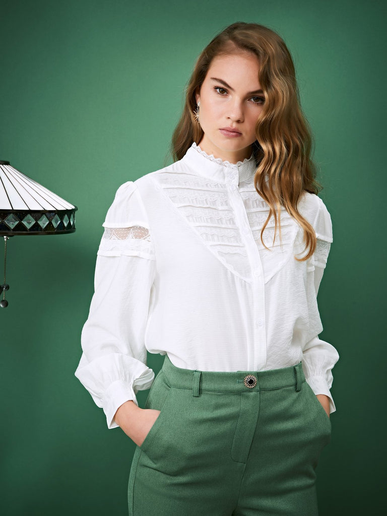 Sally Shoes Trimmed Blouse