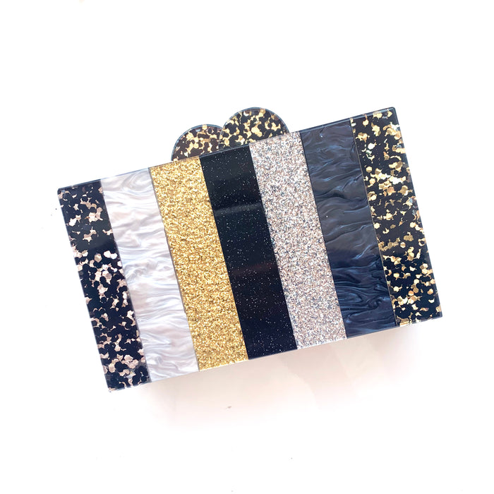 Silver and Gold Acrylic Clutch