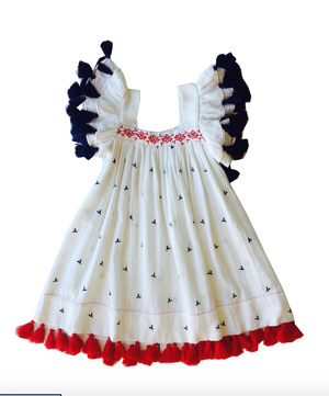 Serena Tassel Red White and Blue Dress Size 6