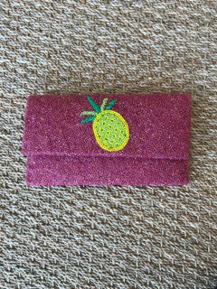 Magenta Clutch with Pineapple