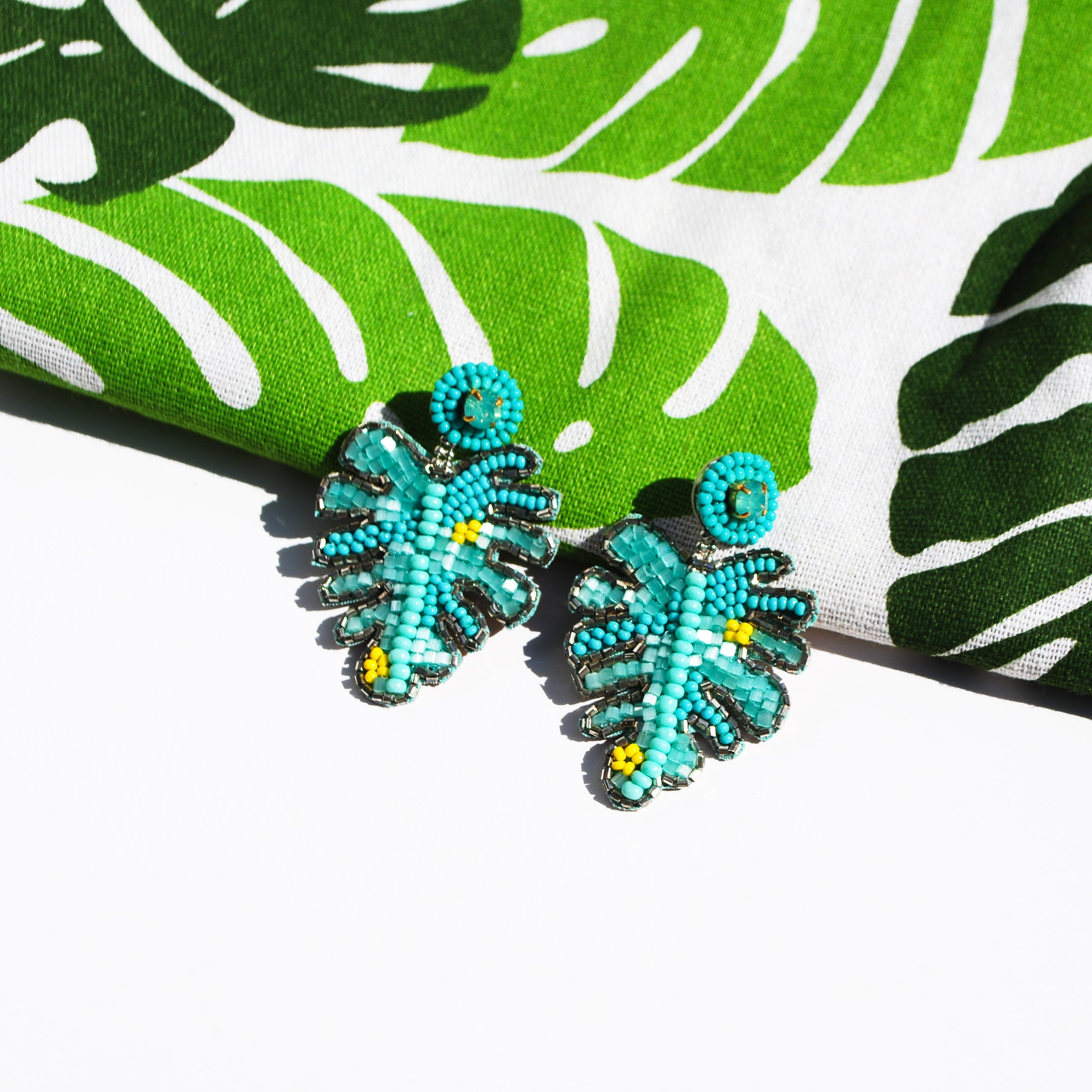 Turquoise Leaf Earrings