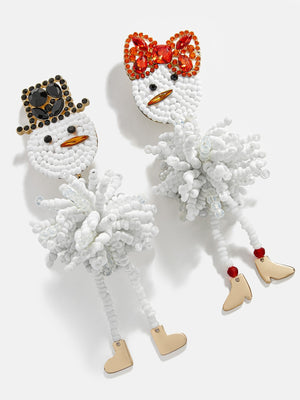 Frosty Couple Drop Earrings