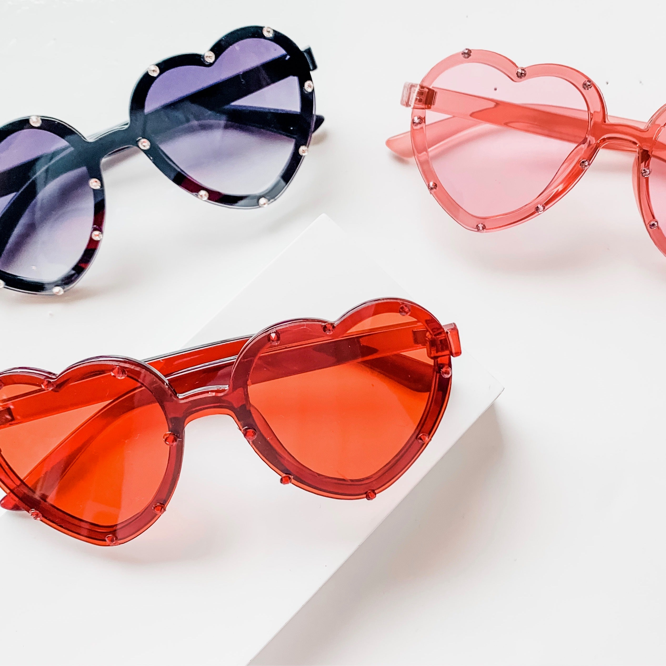 Heart Shaped Sunglasses in Pink