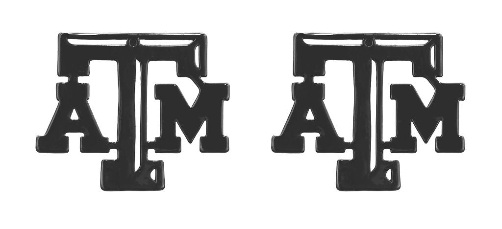 Texas A&M ATM Block Letter Earring