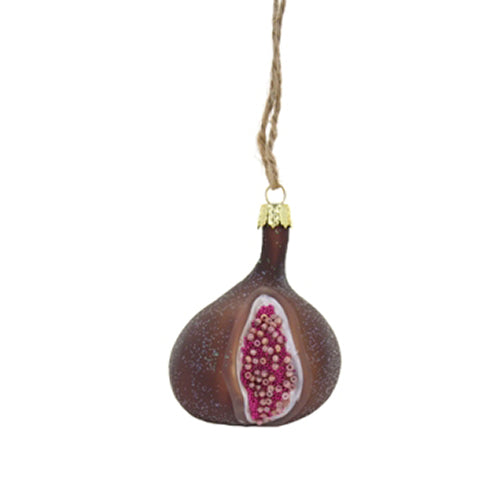Orchid Fig Ornament in Merlot