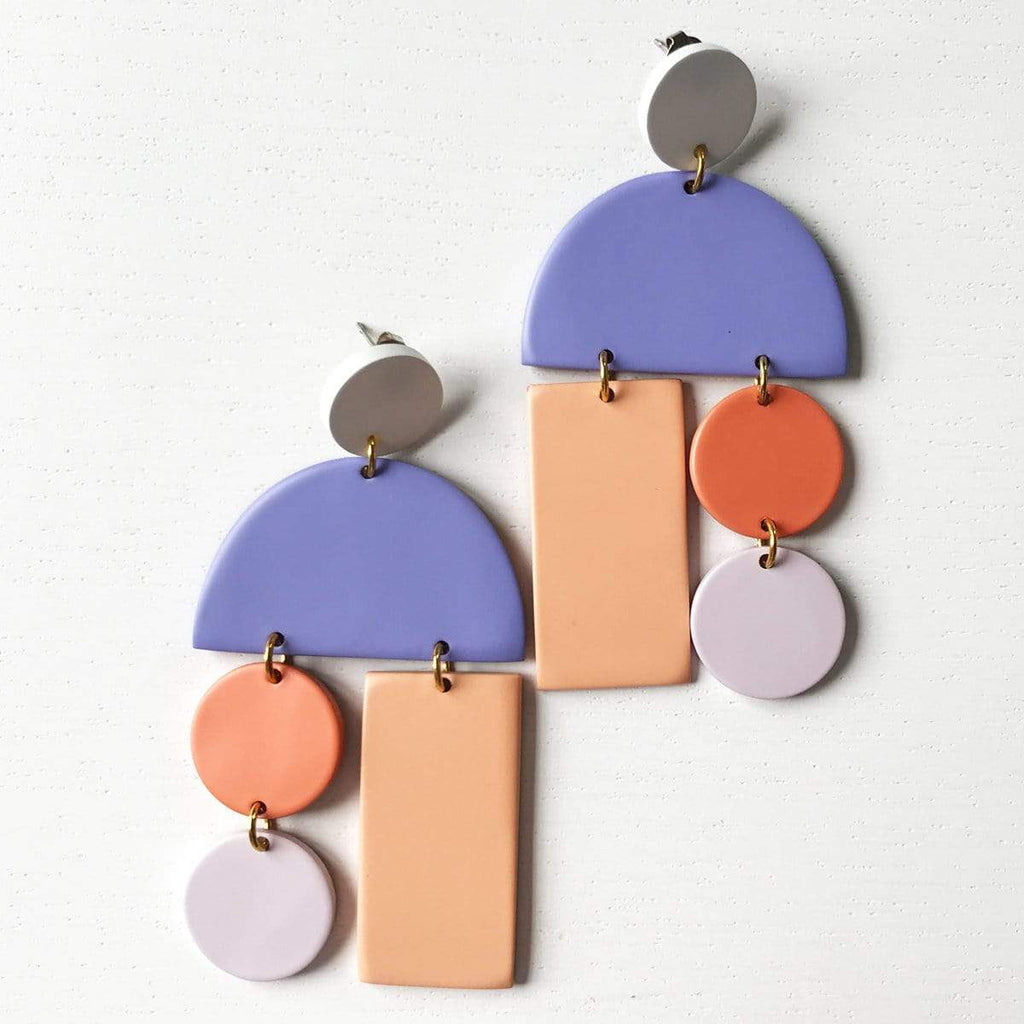 Matte Pastel Horn Mobile Earrings