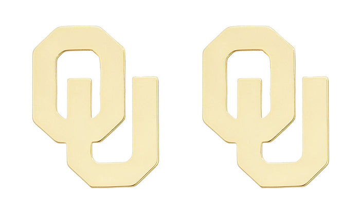 University of Oklahoma OU Letter Earrings