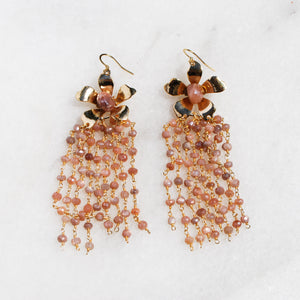 Peach Moonstone Natalie Earrings