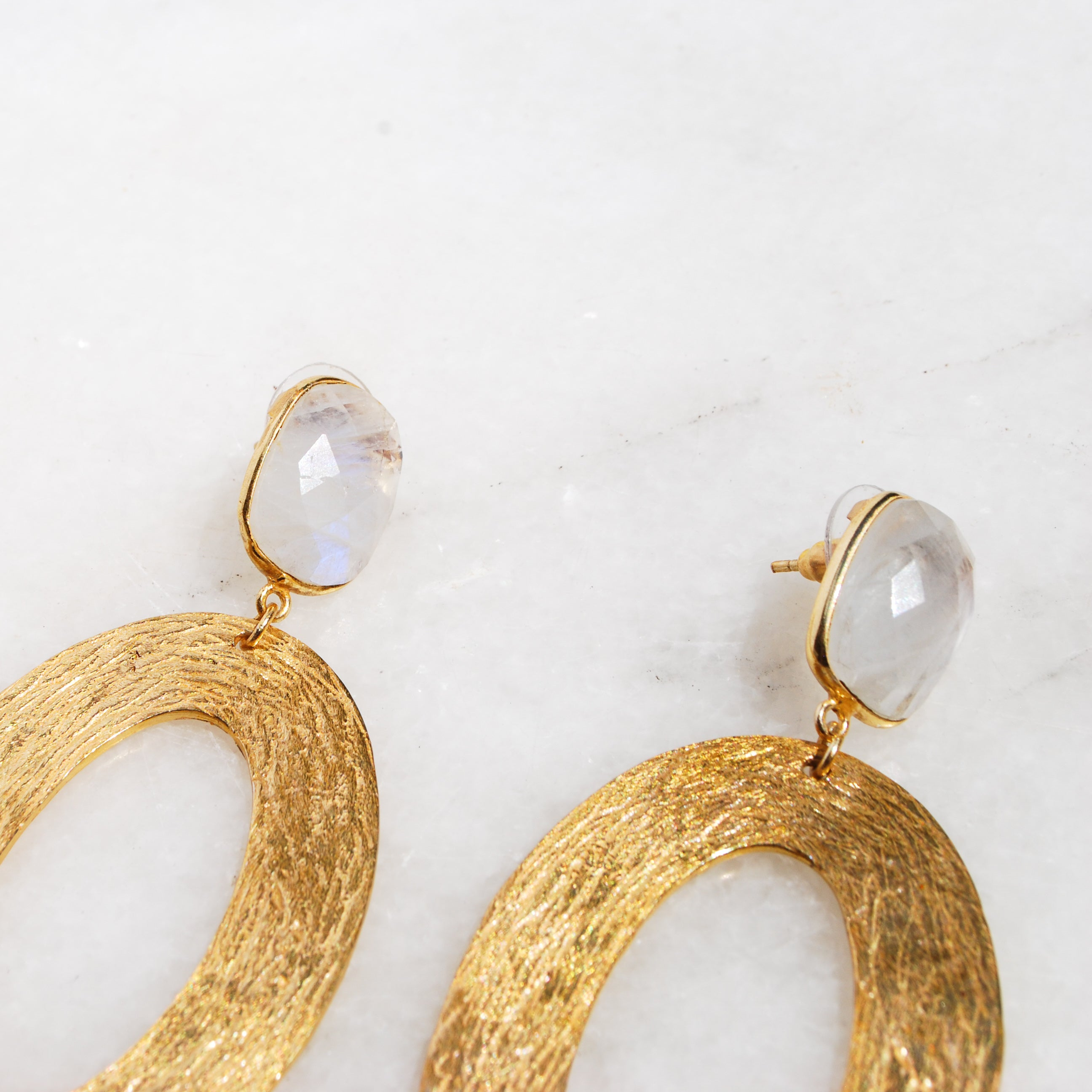 Mystic Moonstone Martha Earrings