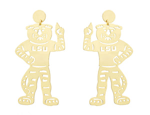 LSU Mike the Tiger Body Earring