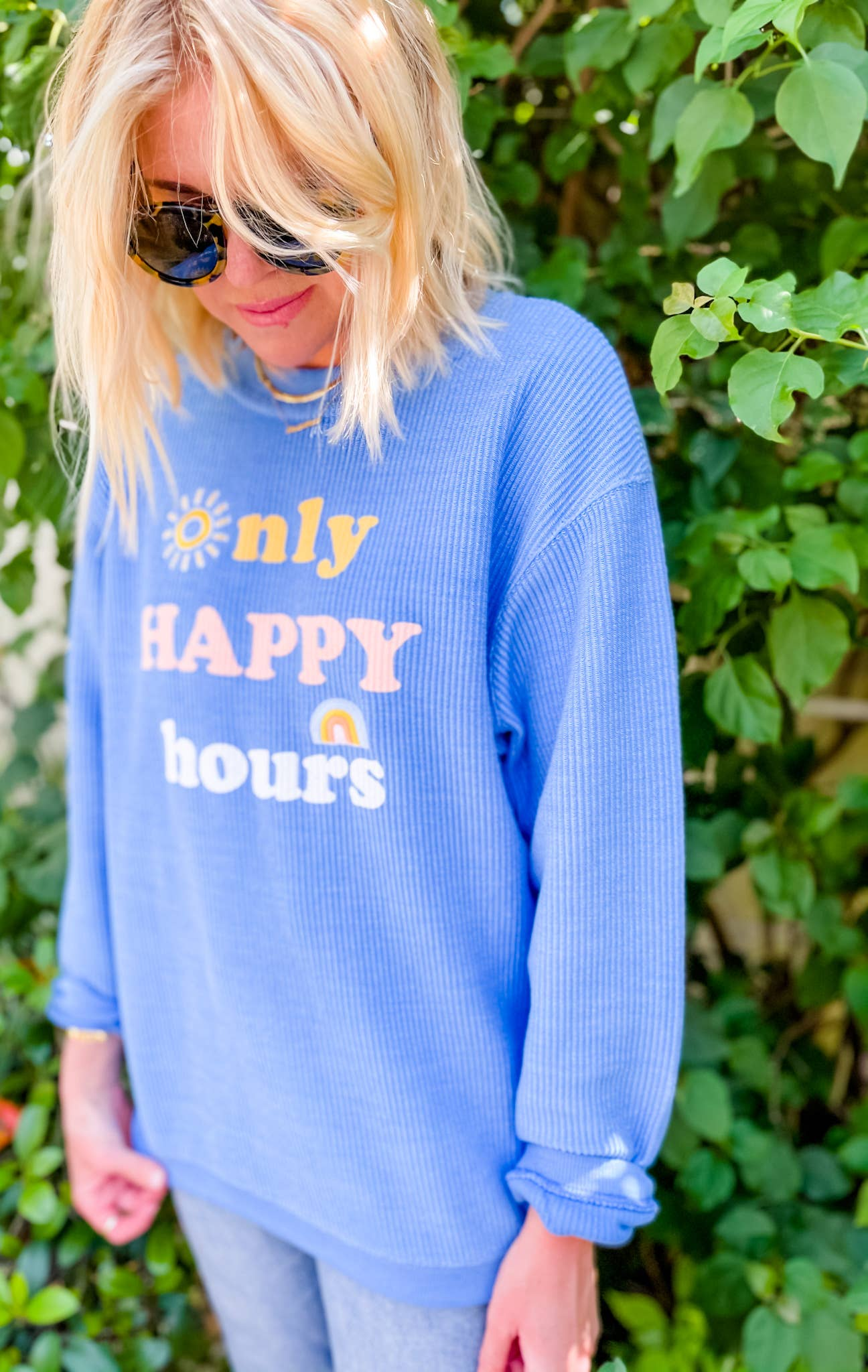 Only Happy Hours Ribbed Sweater